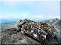 NG4520 : Summit cairn on Sgurr Alasdair by John Allan