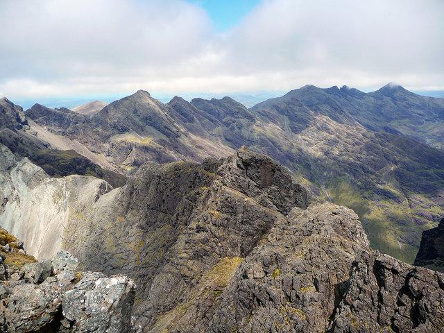 The Cuillin Ridge from Sgurr Alasdair