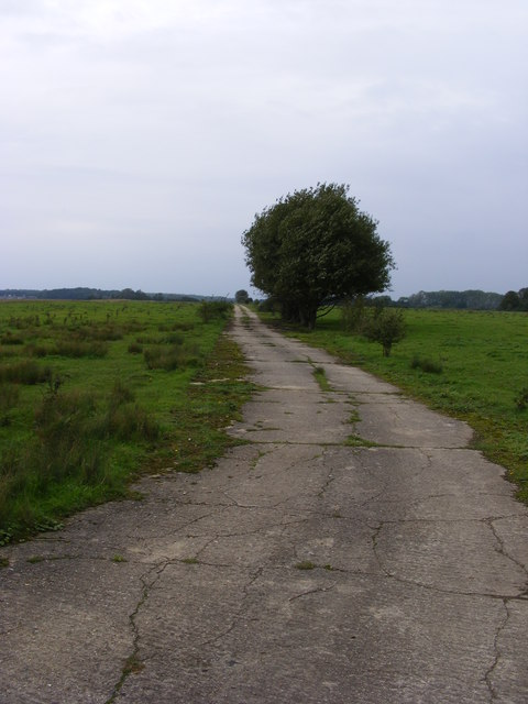 Former perimeter track on Flixton Airfield