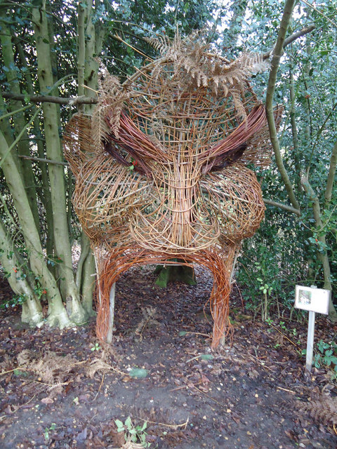 Wicker Sculpture at Arger Fen