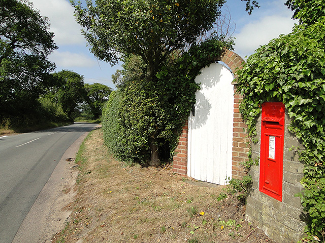 Victorian wall postbox at Lound
