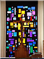 TQ3277 : St Michael &amp; All Angels, Wyndham Road - Stained glass window by John Salmon