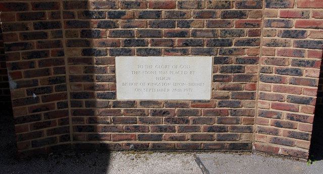 St Michael & All Angels, Wyndham Road - Foundation stone