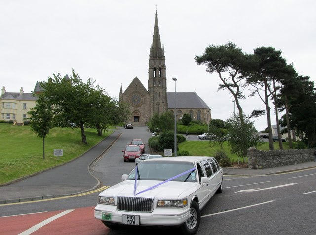 A wedding party leaving St Patrick's Catholic Church, Downpatrick