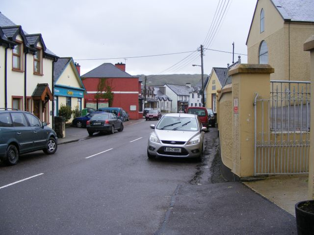 Looking south along the main street, Ballingeary - Dromanallig Townland