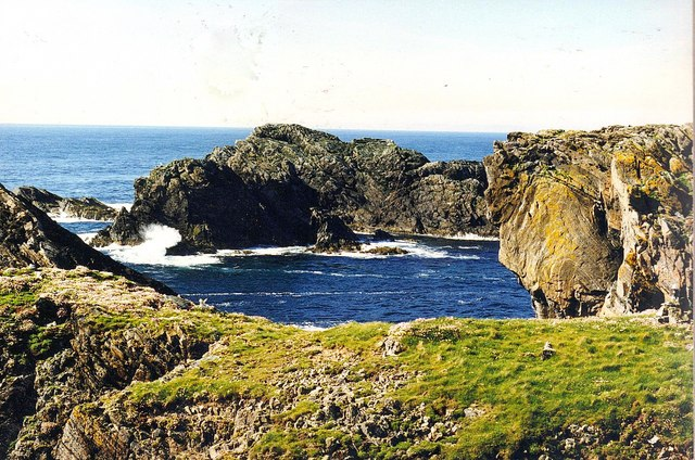 Sea stacks off the Butt of Lewis