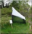 NN9451 : Malaise trap in Balnaguard Glen reserve by Russel Wills