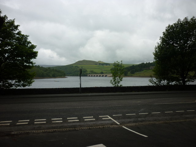 Ladybower reservoir from the A6013