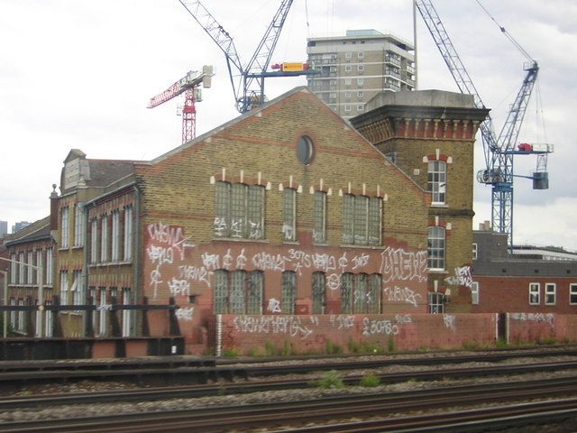Bermondsey: former factory, from the train