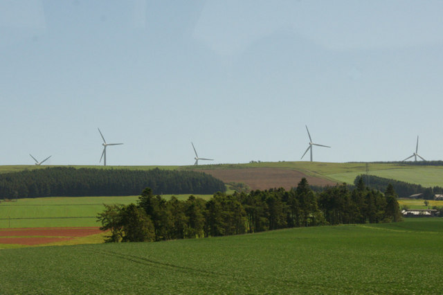 Farmland and woodland near Scotston, Laurencekirk