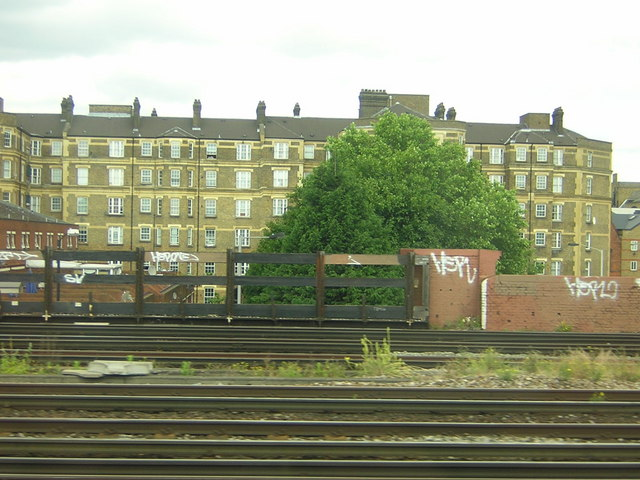 Victorian flats, Bermondsey, from the train