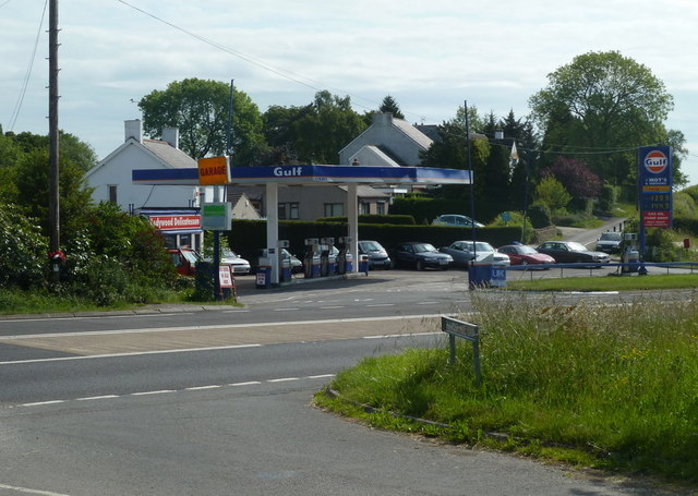 Petrol station by the A619