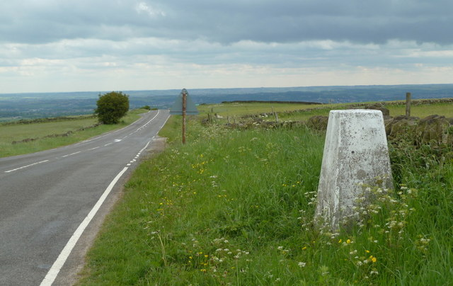 Grange Hill Ordnance Survey column and the B6050