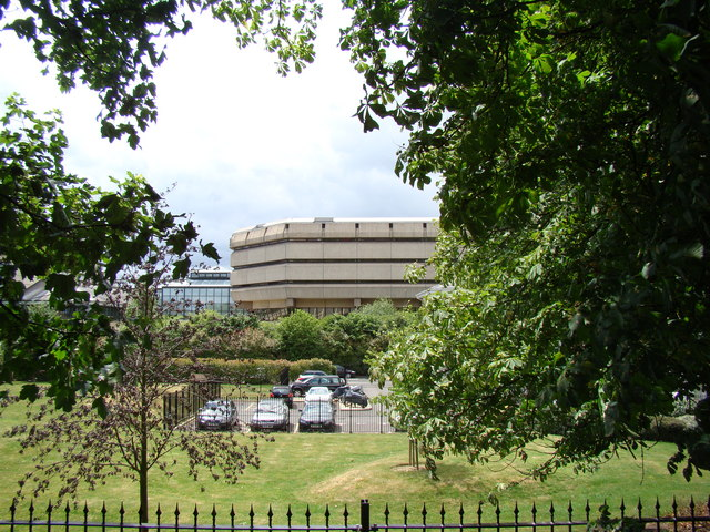 View of the National Archives from the Thames Riverside path
