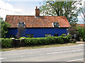 TM3464 : Lovely blue cottage by Rendham Bridge by Evelyn Simak