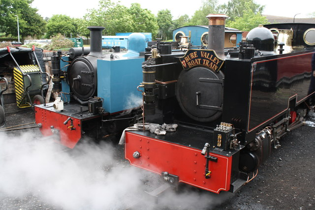 Steam locomotives at Aylsham Bure Valley Railway station