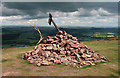 NT5532 : The summit cairn on Eildon Hill North : Week 23