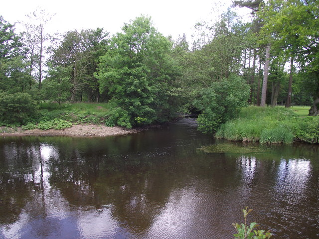 The confluence of the Rivers Dunsop and Hodder