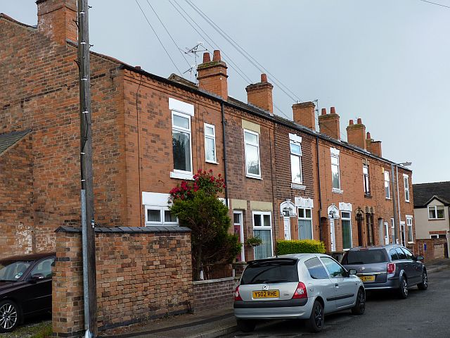 Terraced houses in Victoria Avenue, Borrowash