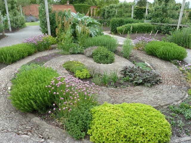 Herb garden at Hampton Court Gardens