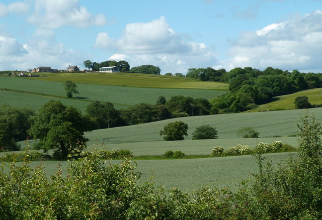 Valley farmland view from Deep Lane