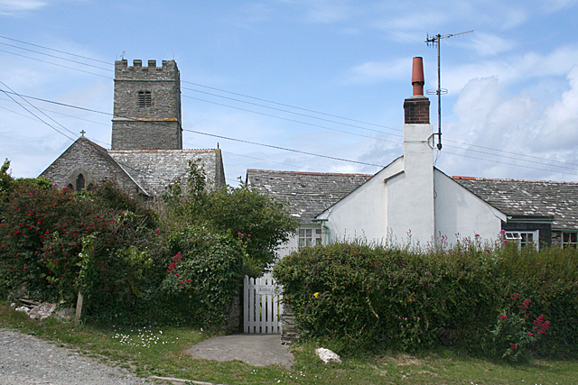 Trevalga: church and Little Court