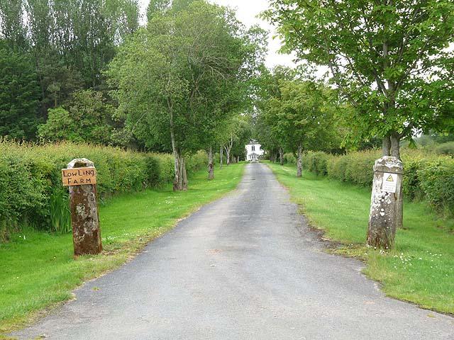 Driveway to Low Ling Farm