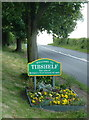 SK4462 : Village sign - welcome to Tibshelf by Andrew Hill
