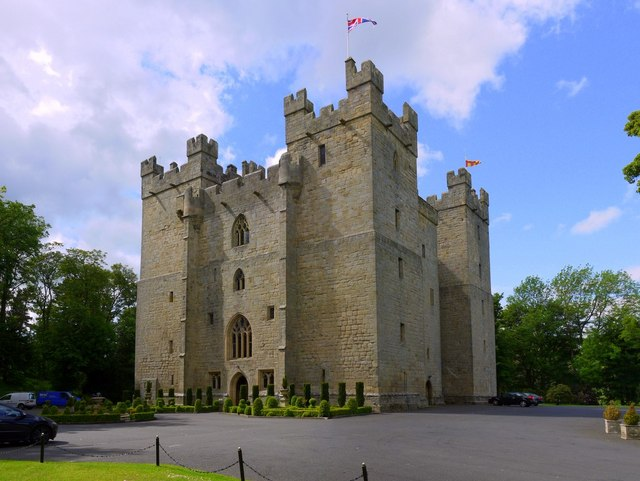 Langley Castle from the south-west