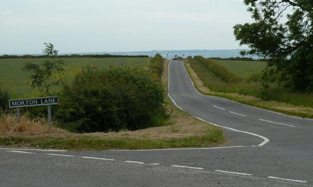 Looking along Morton Lane