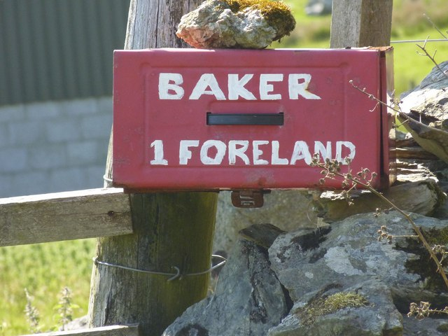 Baker's postbox, Foreland, Islay