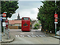 TQ5189 : Bus stand, Romford by Robin Webster