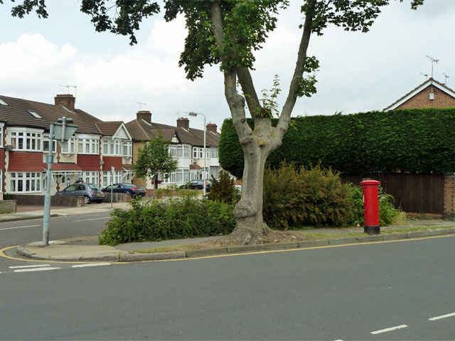 Pillar box at the corner