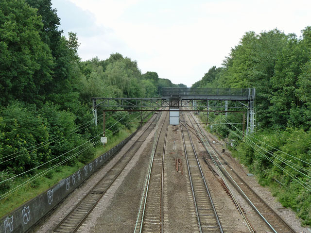 Railway west of Gidea Park