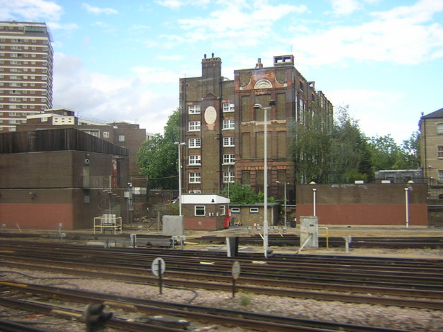 School, seen from train outside Victoria station