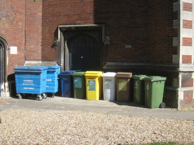 St Paul's church recycling corner
