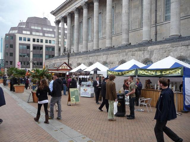 A food festival in Birmingham city centre