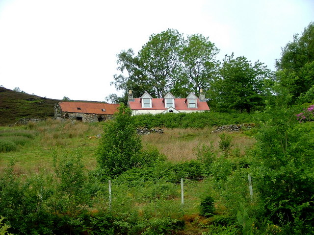 House and barn on the hill