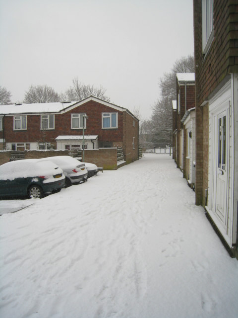 Estate footpath