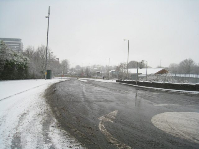 Snow near Basing View