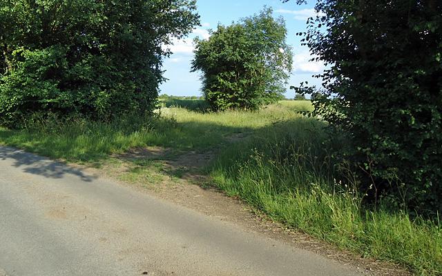 Farm track entrance