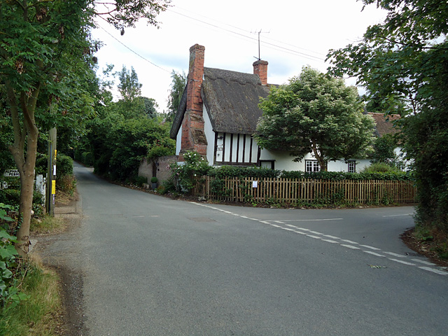 Thatched cottage near junction, Lamarsh