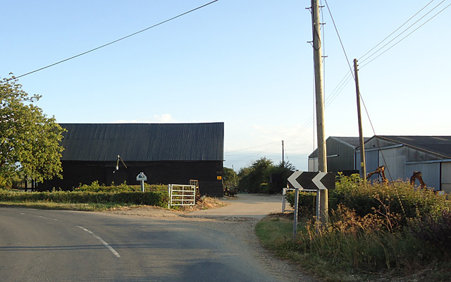 Entrance to Pricketts Hall Farm