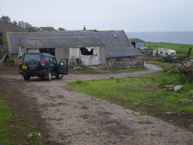 Coastal scene at England farm