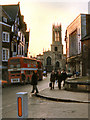 SE6051 : Pavement and All Saints' Church by David Dixon