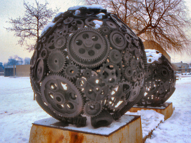 "Goodricke ""Cogs"" Sculpture (Algol)"