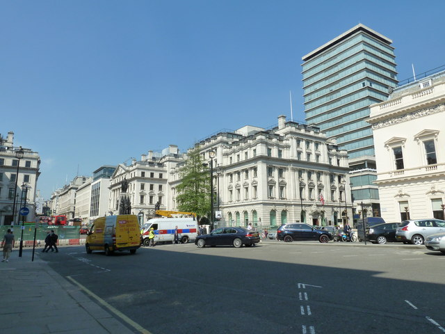 Looking from Waterloo Place towards Pall Mall