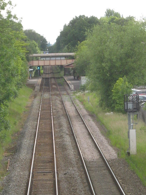 Approach to Hall Green Station