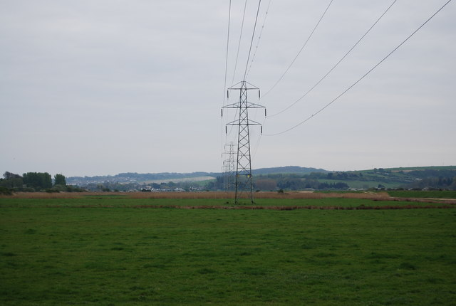 Pylons by the River Ouse, Southease