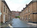 SS9512 : Workers' housing and mill, Tiverton by Chris Allen